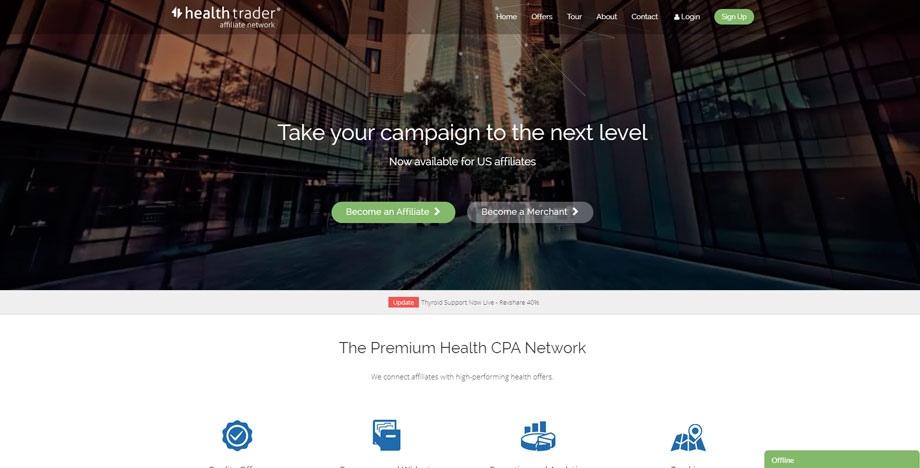 best cpa networks healthtrader