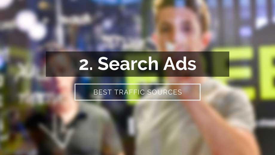 search ads traffic source