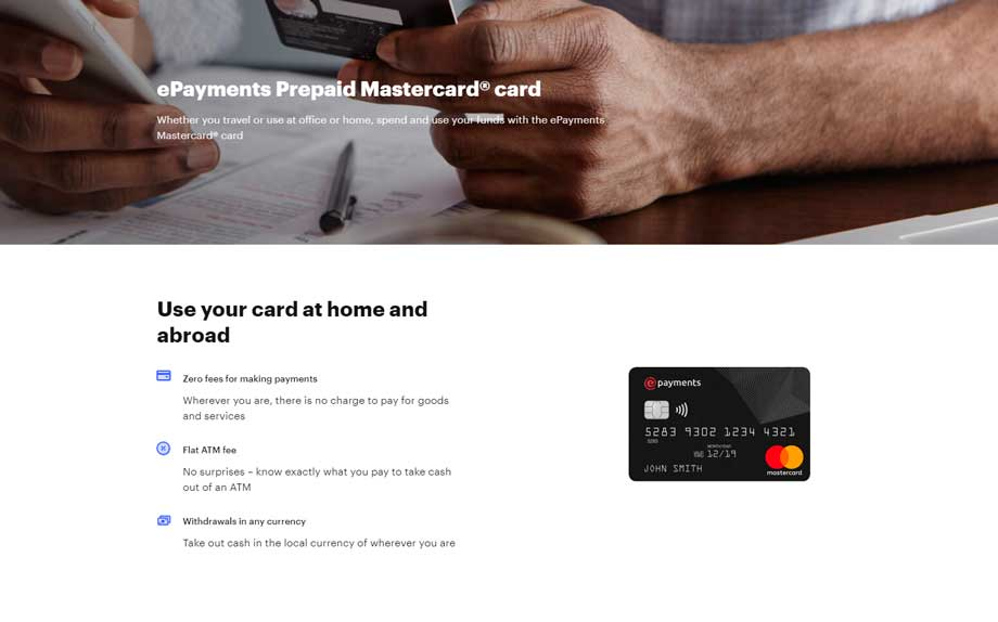 epayments prepaid card