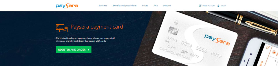 paysera card