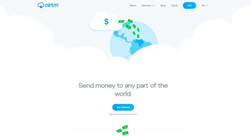 send money with airtm